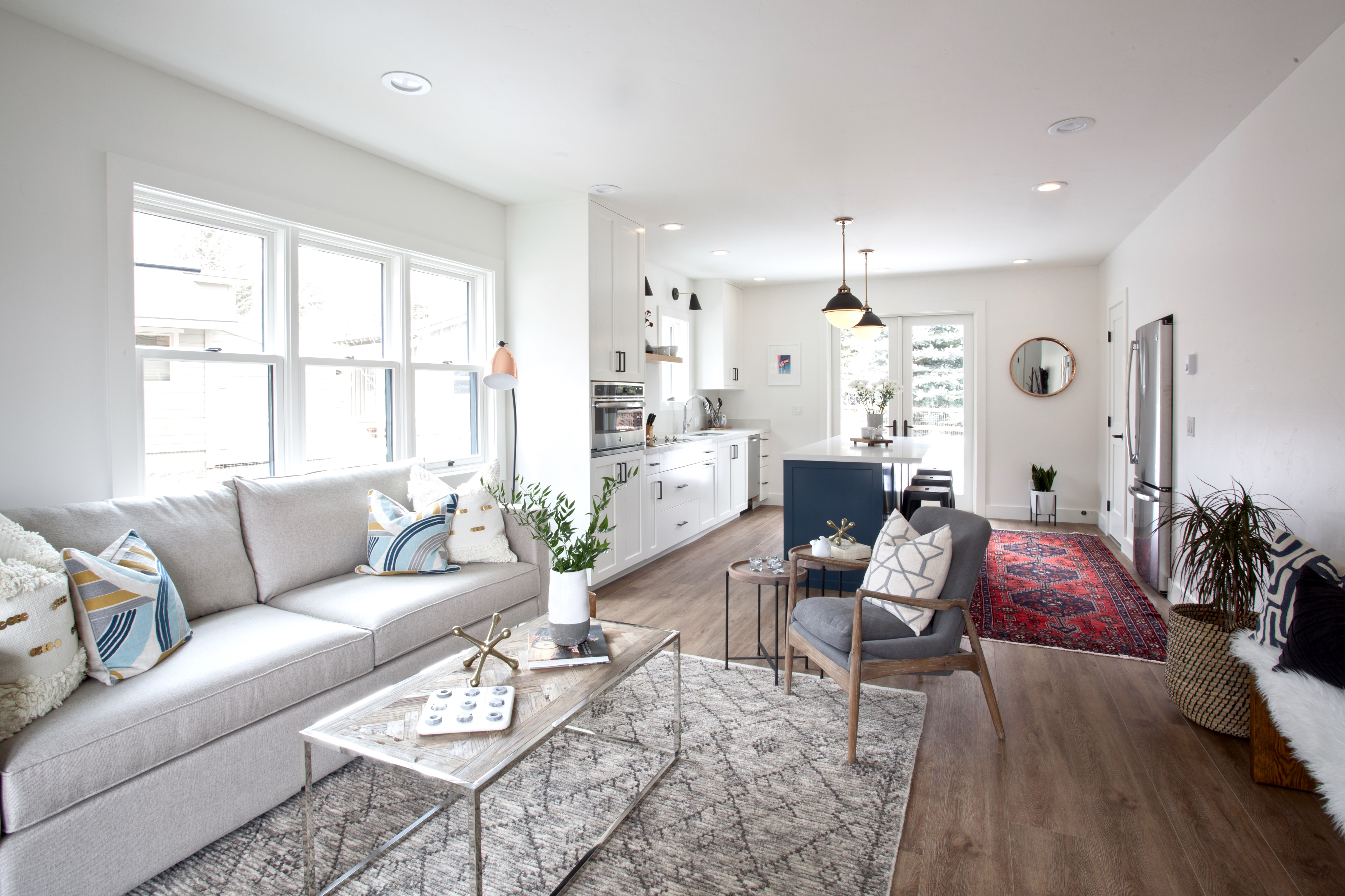 Warm Springs Addition Project Reveal – Kitchen, Living Room