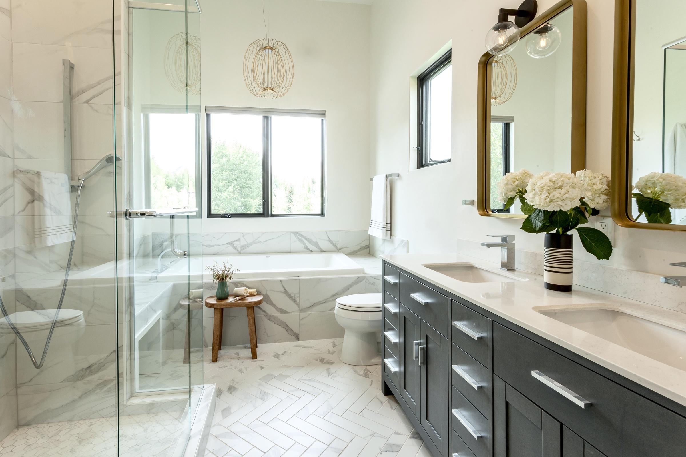 bathroom, porcelain tile, master bathroo