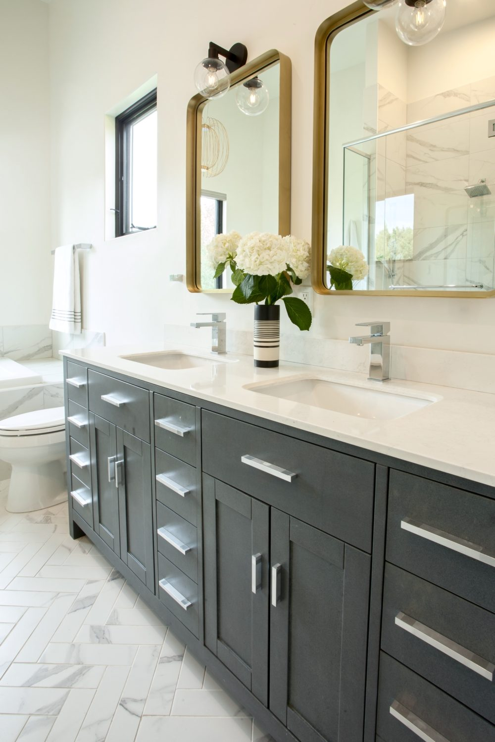 Master vanity in master bathroom