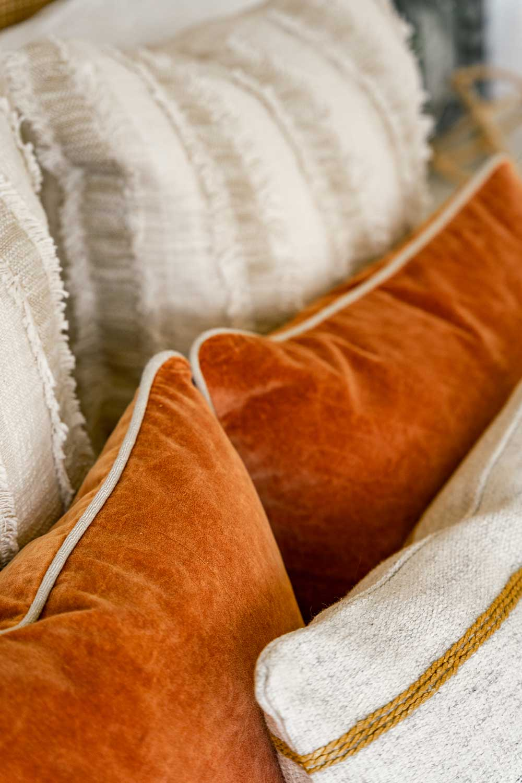 colorful pillow arrangement
